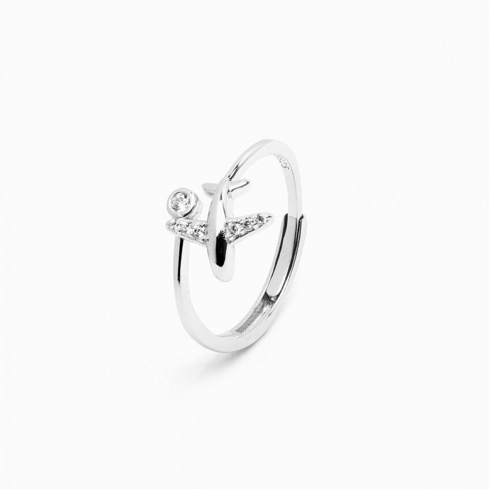 anello aereo argento 925 regolabile
