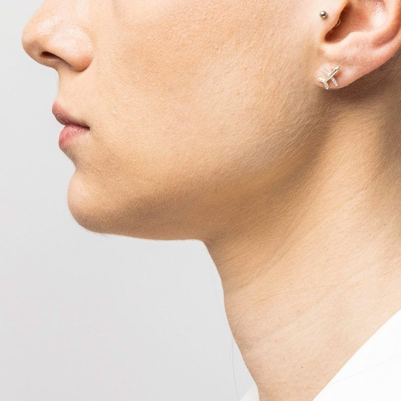 orecchini argento weartravelers aereo