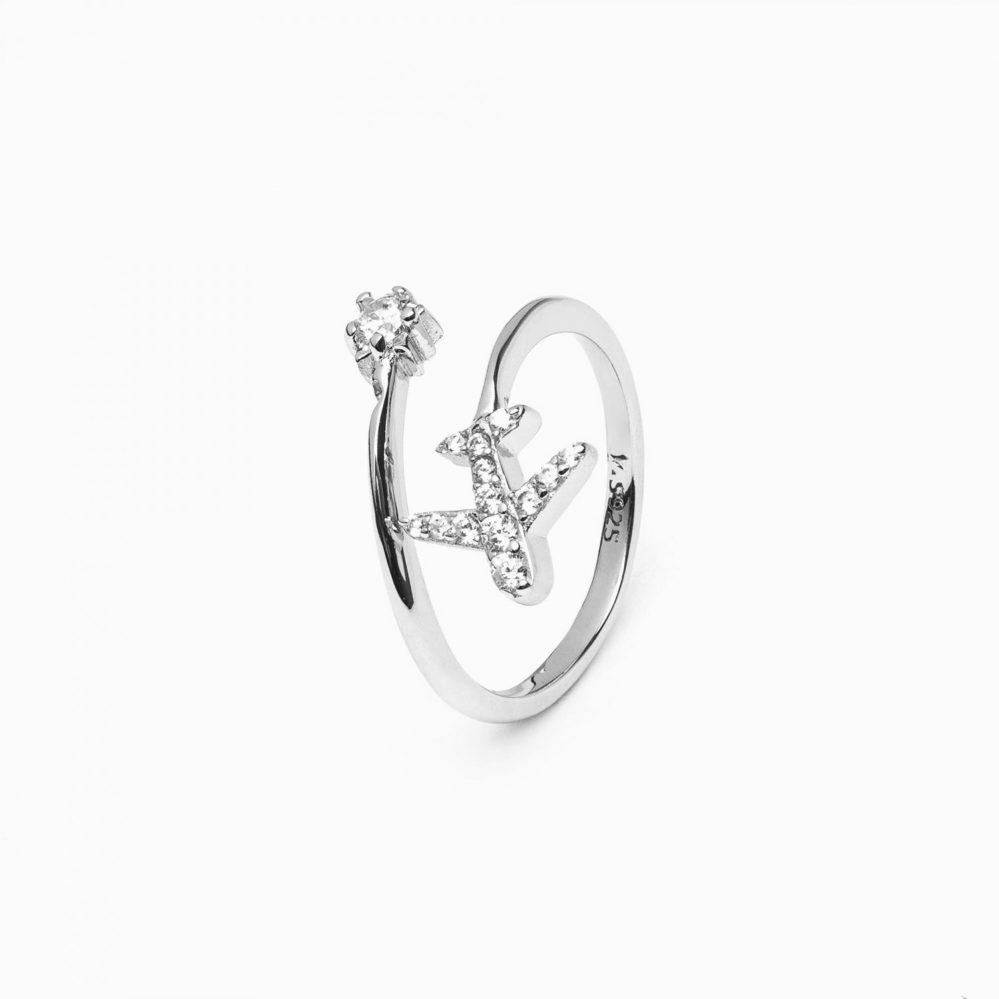 anello in argento 925 con tanti zirconi