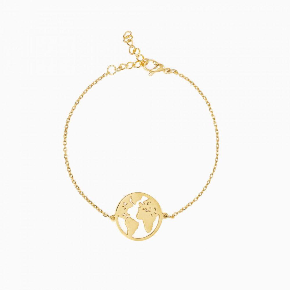 braccialetto mappamondo per viaggiatrici idea regalo